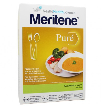 Meritene Pure Verduras de la huerta 6 Sobres