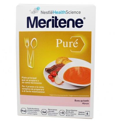 Meritene Pure Buey Guisado 6 Sobres