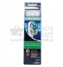 Oral B Recambio Dual Clean 3 Unidades