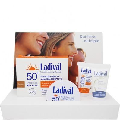 Ladival Maquillaje Compacto Dorado Pack Miniaturas