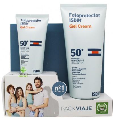 Fotoprotector Isdin 50 Pack Viaje Duplo Gel Crema spf50