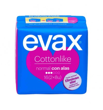 Evax Cottonlike Alas Normal 16 compresas