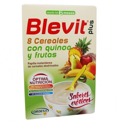 Blevit plus 8 Cereales con quinoa y frutas 300 g