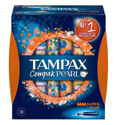 Tampax Compak Pearl Superplus 18 unid