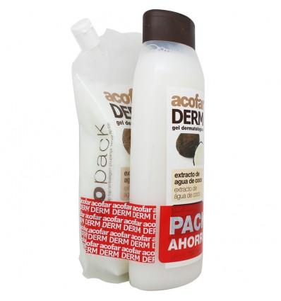 Acofarderm Gel de Baño Agua de Coco 750 ml Pack Ecopack