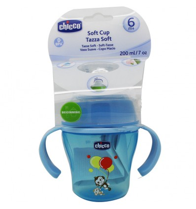 Chicco Taza soft 6 meses 200 ml azul