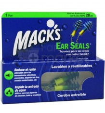 Macks Tapones Ear Seals Goma Cordon 1 par
