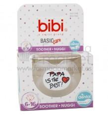 Bibi Chupete Basic Silicona Papa is The Best 6-16 meses