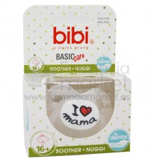 Bibi Chupete Basic Silicona I Love Mama 16 meses