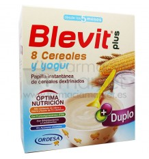 Blevit Plus Duplo 8 Cereales Yogur 600g