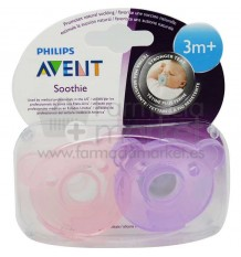 Avent Chupetes Soothie 3 Meses azul