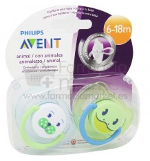 Avent Chupetes Animales 6- 18 meses
