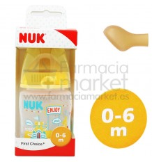 Nuk Biberon Fantasy Latex 1M 150 ml amarillo