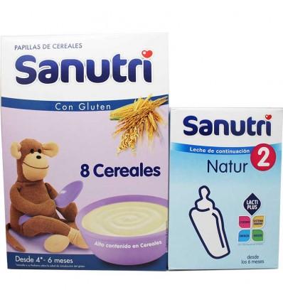 Sanutri Cereales Papilla 8 Cereales 600 g