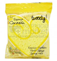 Hypnos Esponja Corazon Tweety amarillo