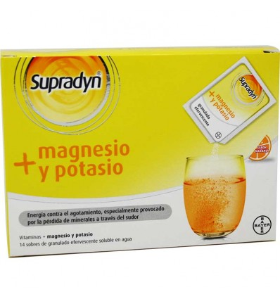 Supradyn magnesio potasio 14 sobres naranja