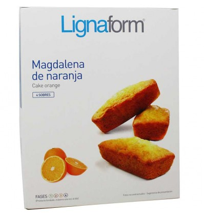 Lignaform Magdalenas Naranja 4 Raciones