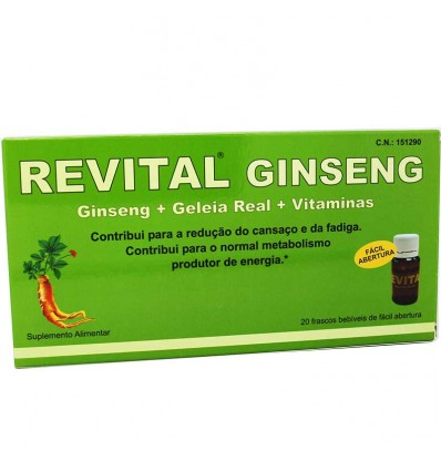 Revital Gingseng Jalea real Vitamina C 20 Ampollas