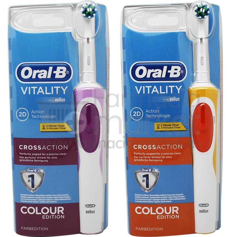 oral b cepillo vitality cross action colour edition. Black Bedroom Furniture Sets. Home Design Ideas