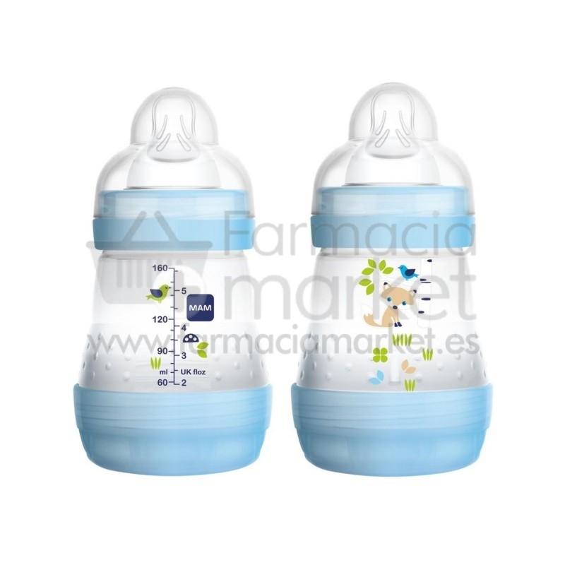 mam baby biberon anticolico 160 ml azul biberones mam. Black Bedroom Furniture Sets. Home Design Ideas