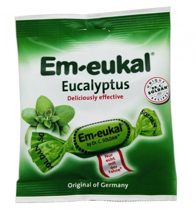 Em-Eukal Rebuçados de Eucalipto Açúcar 50 g