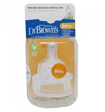 Dr Browns Tetina Nível 3 Boca Larga
