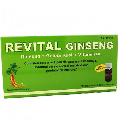 Revital Gingseng Geléia real e Vitamina C 20 Ampolas