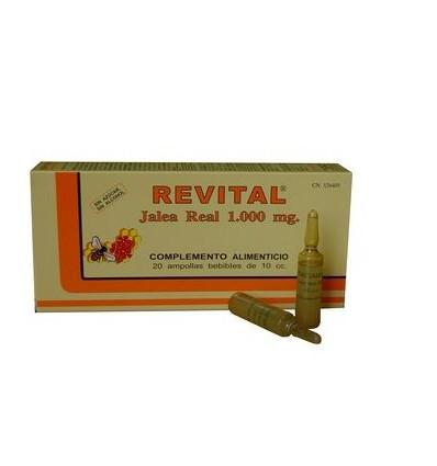 Revital geleia real 1000 mg 20 ampolas