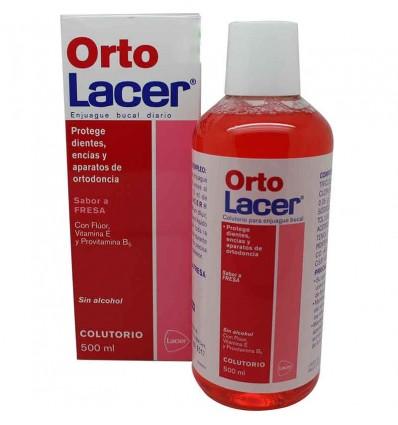 Ortho lacer mouthwash strawberry