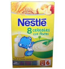 Nestle Cereales Papilla 8 Cereales frutas 600g