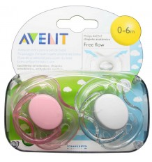 Avent Pacifiers Free Flow 0-6 months