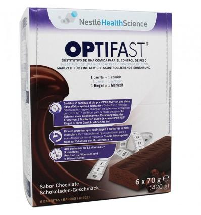 Optifast Barritas Chocolate 6 unidades