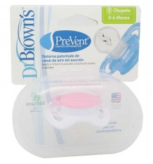Dr Browns Pacifier Orthodontic Prevent Pink size 0-6 months