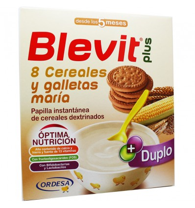 Blevit Plus Duplo 8 Cereales Galleta Maria 600 g