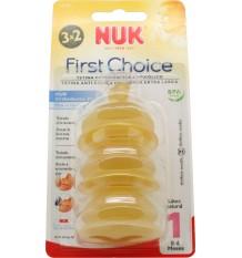 Nuk Brustwarze Zuerst Wahl, Latex-M1 Milch 0-6