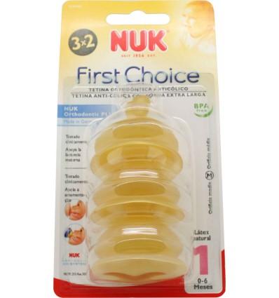 Nuk Tétine First Choice Latex M1 Lait De 0 À 6 Ans