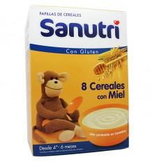 Sanutri Cereales Papilla 8 Cereales miel 600 g