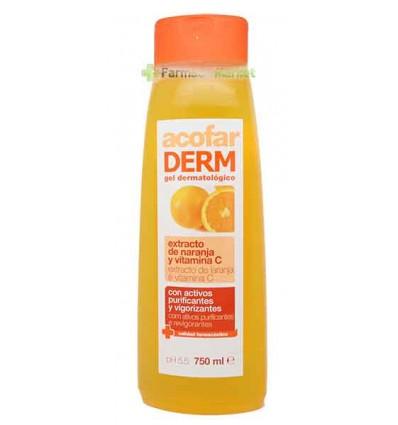 Acofarderm Gel de Baño Naranja 750 ml