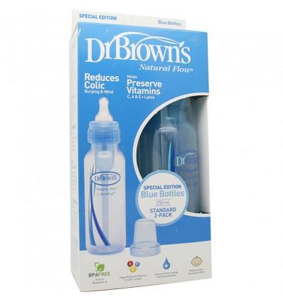 Dr Browns Biberon Azul Boca Estrecha Pack Duplo