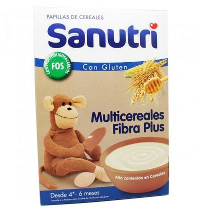 Sanutri Cereales Papilla Multicereales Fibra plus efecto bifidus 600g