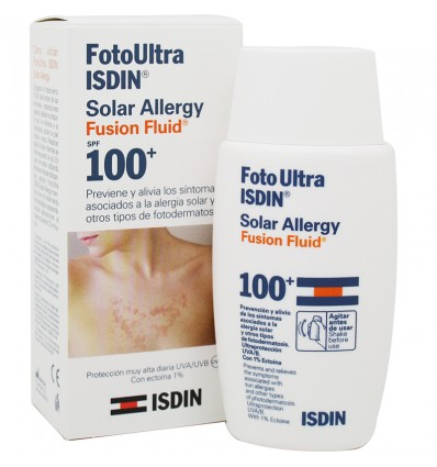Fotoultra Isdin 100 Ultra Solar Allergy Fusion Fluid 50 ml Oferta