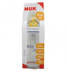 Nuk Biberon Latex Cristal 1M 240 ml azul
