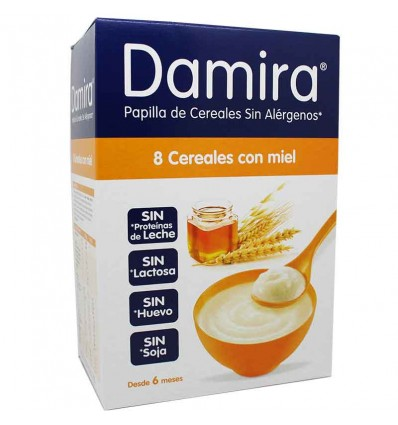 damira papilla 8 cereales miel 600 gramos