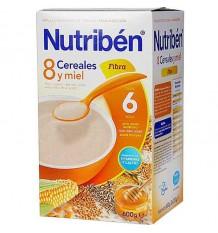 nutriben 8 cereales miel fibra 600 gramos
