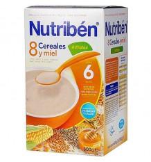 nutriben 8 cereales miel 4 frutas 600 gramos