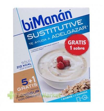 Bimanan Sustitutive Crema yogur con cereales