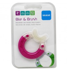 Mam Teething Bite & brush Pink