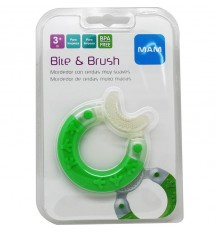 Mam Teething Bite & Brush Green
