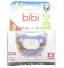Bibi Sucette Silicone Nuit Bleu 6-12 mois