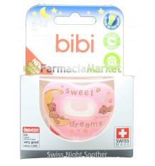 Bibi Chupeta Silicone Noite Rosa 6-12 meses